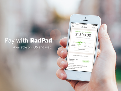 Pay with RadPad credit debit radpad ios web payment