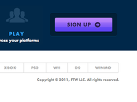 FTW Landing page