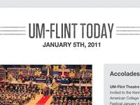 UM-Flint Internal Newsletter