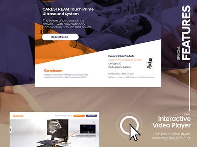 CareStream UltraSound System   Interactive landing page
