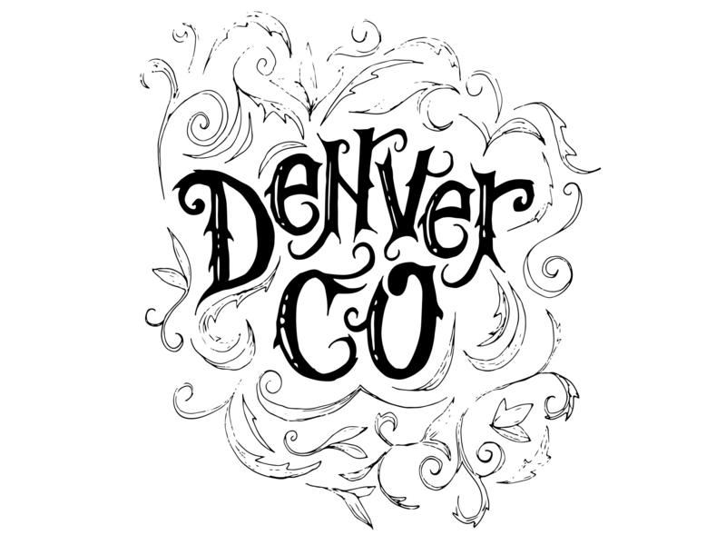 Denver identity icon branding logo lettering typography type illustration design colorado denver