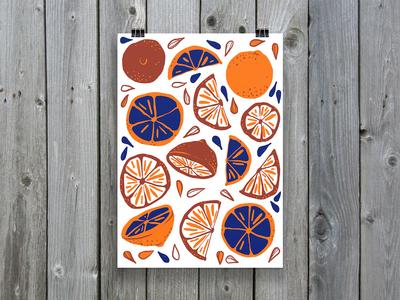 Citrus Pattern ipadart ipad procreate oranges citrus pattern greetingcard card design illustration
