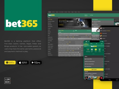 Bet365 betting platform rest api mongodb git mysql uii2 javascript php flat ux ui website web design