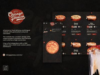 eCommerce food delivery website logo branding graphic design website web ui ux design