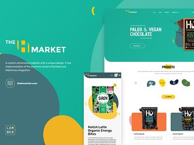 Custom eCommerce website with a unique design vector logo illustration flat branding website web ux ui design