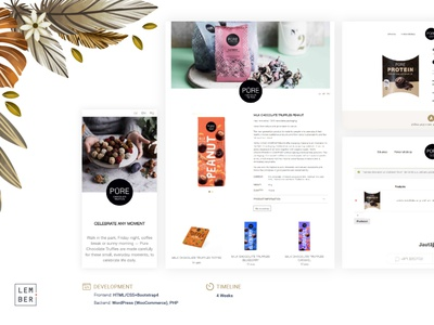 Custom eCommerce website for selling chocolate products. vector logo flat illustration branding website ui web ux design