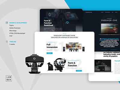 A modern custom website for a drilling simulator business vector logo flat illustration branding website ui ux web design