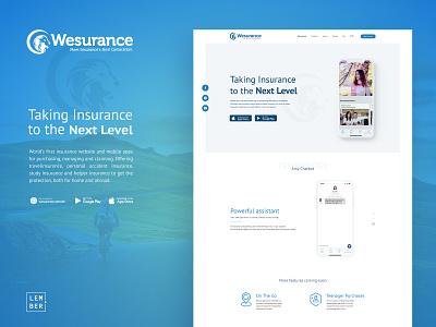 Insurance Website insurance company insurance app animation app website web ux ui design