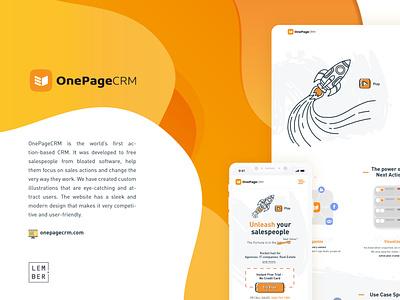 OnePageCRM illustrator minimal flat vector illustration website web ux ui design