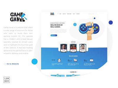 Game Gavel wordpress bootstrap html5 css3 vector illustration website web ux ui design