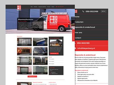 Redesign Bleyenberg Deurservice iwink website site responsive webdesign mobile clean