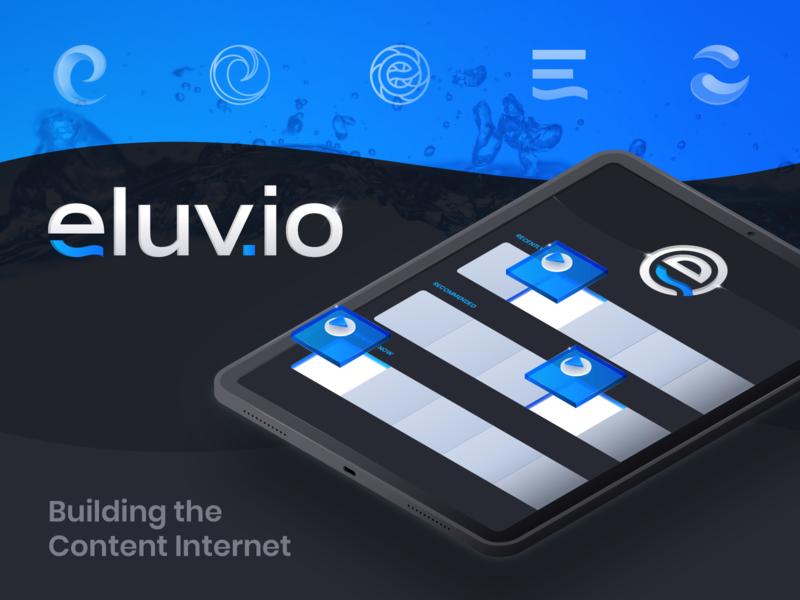 Eluvio :: Branding infrastructure streaming internet tech illustration digital identity technology tablet mark logo isometric illustration isometric branding
