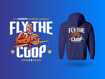 Gobbles :: Hoodie merchandise running athletics race clothing holiday fashion thanksgiving plane hoodie bird merch design branding apparel vector illustration