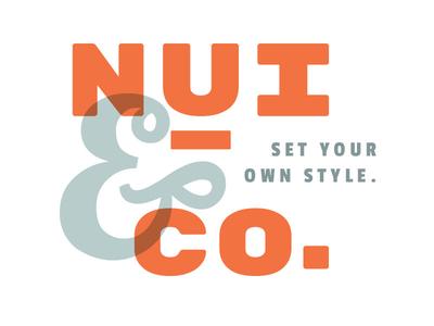 Nui & Co. logo concept 2
