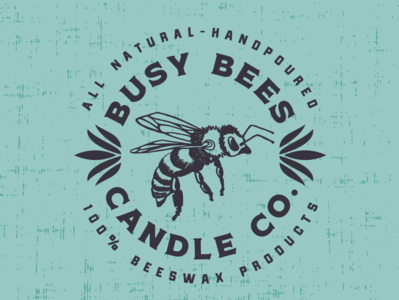 Busy Bees Candle Co. Logo + Branding