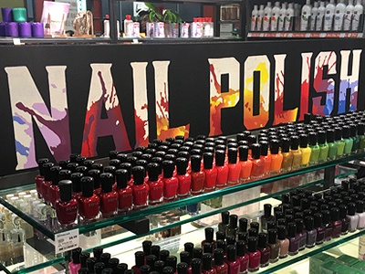 Hand-Painted Sign for Nail Polish Display
