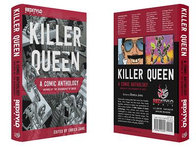 Book Design for Killer Queen Anthology comic book classic rock music rock freddie mercury killer queen graphic design cover design book cover book design