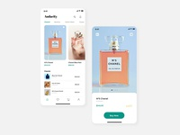 Simple concept for perfume mobile UI