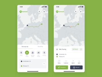 Komoot app concept