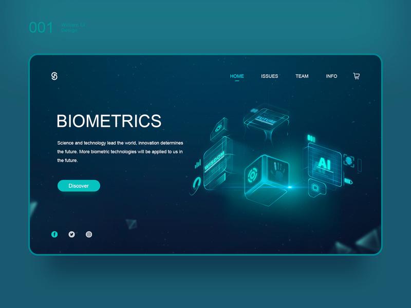 Biometrics future artificial intelligence color 向量 插图 ux 原创 web ui 设计