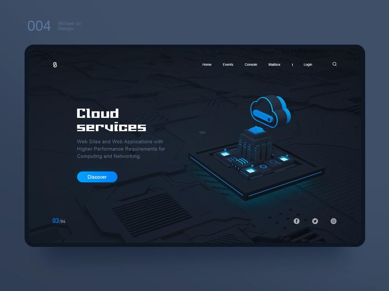 Cloud  services 应用 web 2.0 web  design ux 图标 插图 品牌 原创 c4d ui 设计