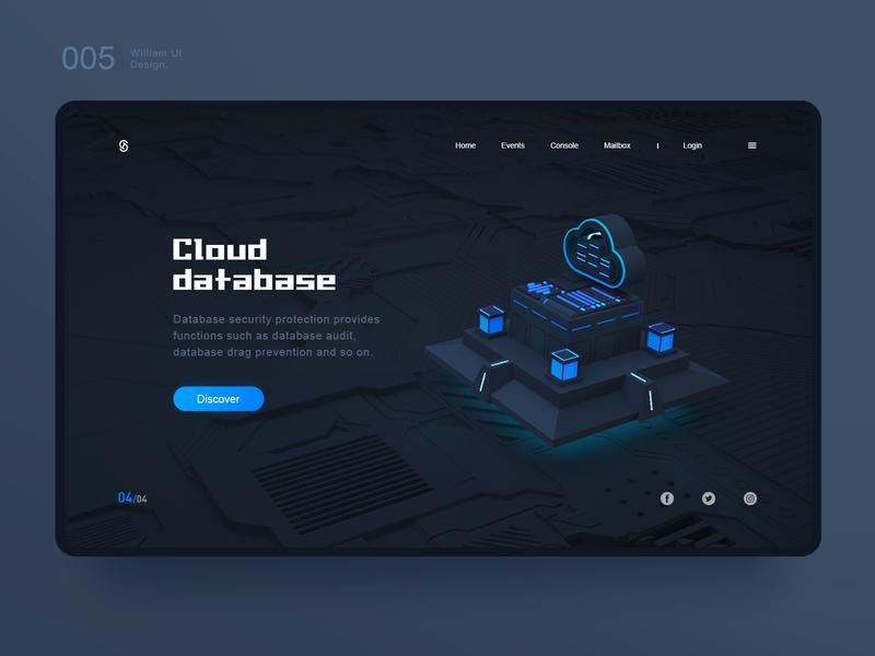 Cloud  database cloud branding app illustration web  design ux 品牌 原创 c4d 插图 ui 设计