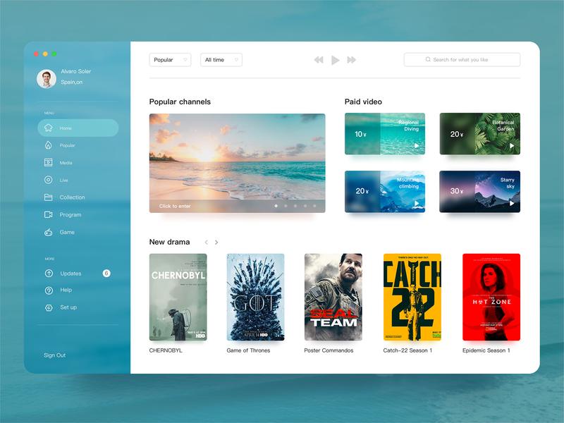 Media Applications dashboard color app 图标 illustration design 应用 web ux 品牌 原创 插图 ui 设计
