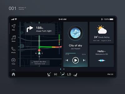 Vehicle UI vector web vehicle ui dashboard color illustration 图标 向量 应用 品牌 原创 ux ui 设计