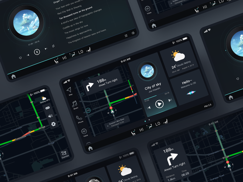 Vehicle set vehicle design vehicle app illustration color 图标 design 应用 web ux ui 设计