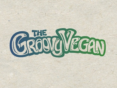 The Groovy Vegan groovy vegan branding logo