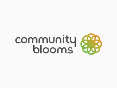 Community Blooms Logo Concept 1 flower branding logo