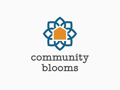 Community Blooms Logo Concept 2 home flower branding logo