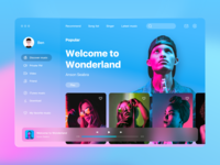 Music player for young people purple young ui design vector dashboad trending product design palette interface colors colored clean app albums graphic music music player uiux interactive ui