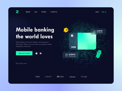 Virtual bank - Debit card - Website vector website debit card card graphic technology balance fintech account virtual babk finance productdesign uiux transition payment pay money mobile wallet bank