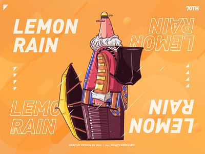 Lemon rain 🍋🍋🍋 artwork art man animal graphic  design graphics flat lemon rain lemon rain rain lemon orange yellow vector color design illistration artworking