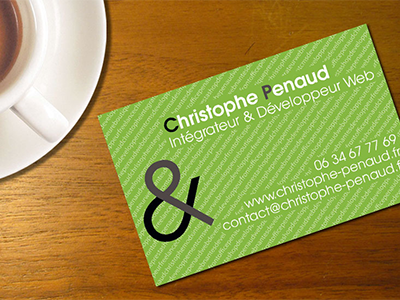Business Card Christophe Penaud Print Letterpress Web Developer