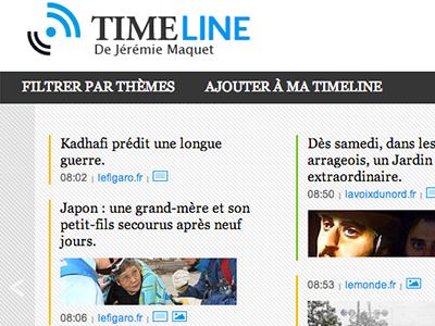 Timeline timeline rss feed filters