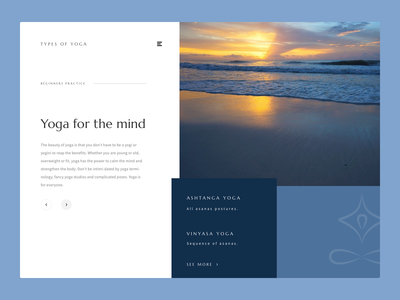 Yoga web animation uxdesign app minimalist blues yogalogo peaceful principle aftereffects uianimation uidesign ui yoga website animation yoga app