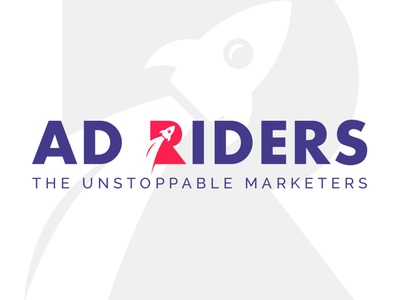 Ad Riders - The Unstoppable Marketers brand identity market ad rider rocket logo rocket logo design logotype logodesign vector illustration typography web logo ux ui design specscale dribbble