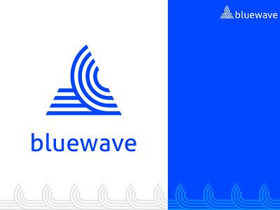 Bluewave Logo minimal art website vector typography logo illustration identity brandidentity abstract icon app design branding app