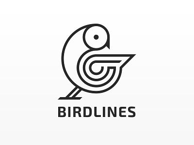 BirdLines Logo bird logo bird animal logo animal logo design logodesign logotype logos brand branding illustration typography vector web logo specscale dribbble