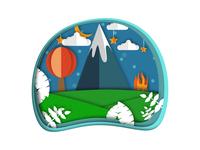 Mountain Travel Concept