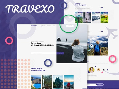 Travexo - Travel Landing Page Concept modern web design adventure holiday travel landing page travel website travel landing page concept landing page design landing design landing page website concept website builder website color design ux ui web specscale dribbble