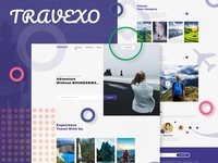 Travexo - Travel Landing Page Concept