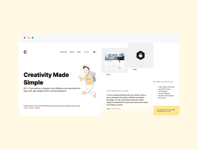 Personal Site Launched fullsiteediting gutenberg wordpress dark mode responsive mobile design webdesign logo branding personal portfolio