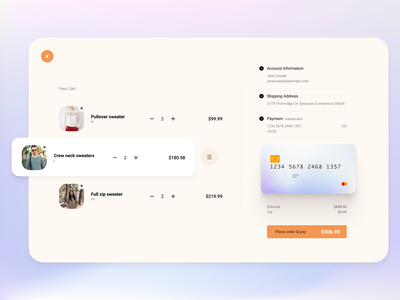 Check Out Page desktop harmony creditcard checkout minimal figma dailyui exploration concept ios