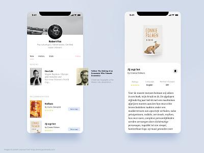 BookClub User Profile club book profile user mobile app mobile design ui user profile bookclub