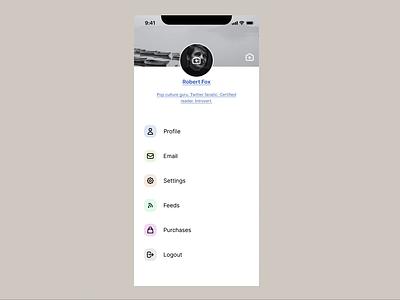 BookClub — Settings minimal monotone app design mobile app bookclub prototype fimga
