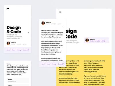 Personal Site 11ty design figma portfolio blog site brand personal