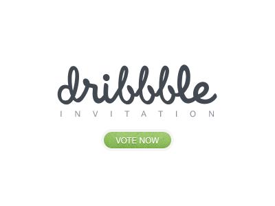 Dribbble Invite - Poll poll vote invitation